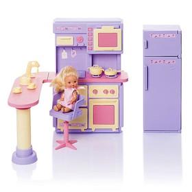 Кухня «Маленькая принцесса», цвет нежно-сиреневый