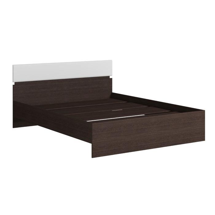 Кровать 1600 (с основанием) Светлана 1643х2040х870 Венге/Дуб молочный