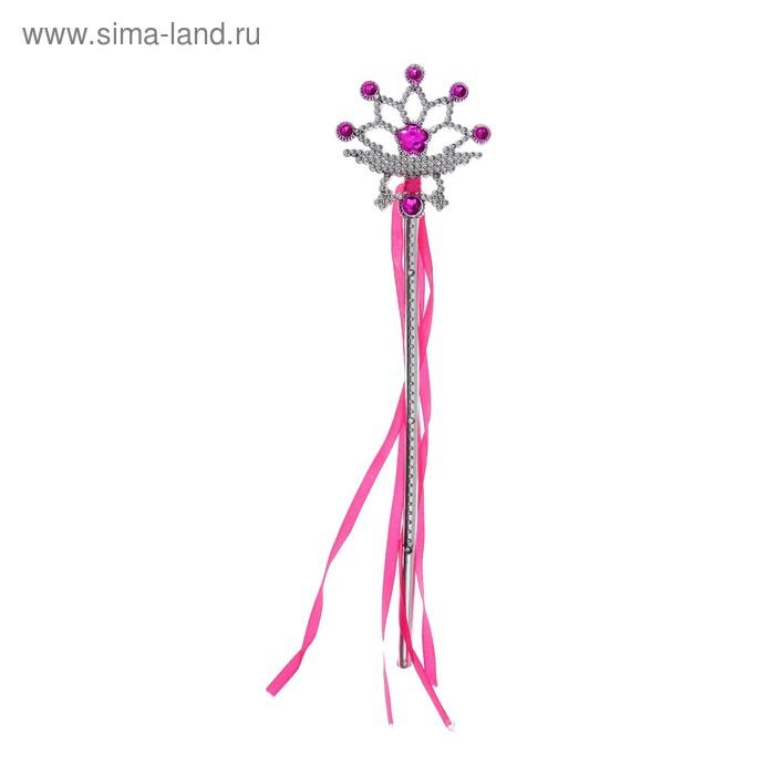 Fancy dress wand Princess, color pink