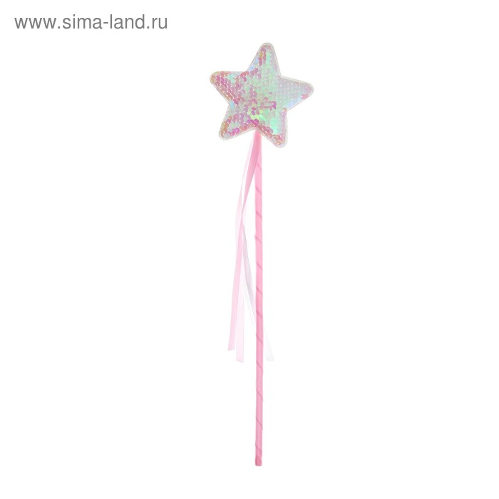 "Carnival rod ""Star"" with sparkles, the color pink"