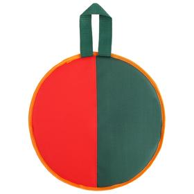 Ледянка d=33 см h=10 мм, цвет зелёный/красный Ош