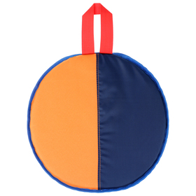 Ледянка, d=33 см, h=10 мм, цвет оранжевый/синий