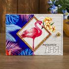 """Ключница """"Фламинго"""" белый 13х18 см"""