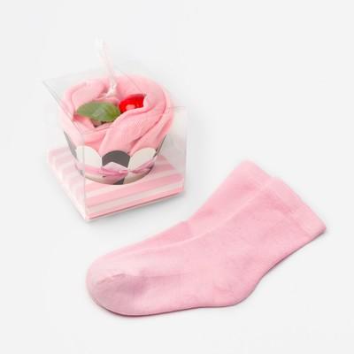 """Носки женские """"Пирожное"""" цвет розовый, р-р 36-39"""