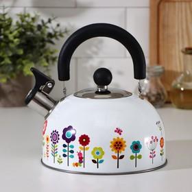 Чайник со свистком Доляна «Ромашка», 1,9 л, индукция