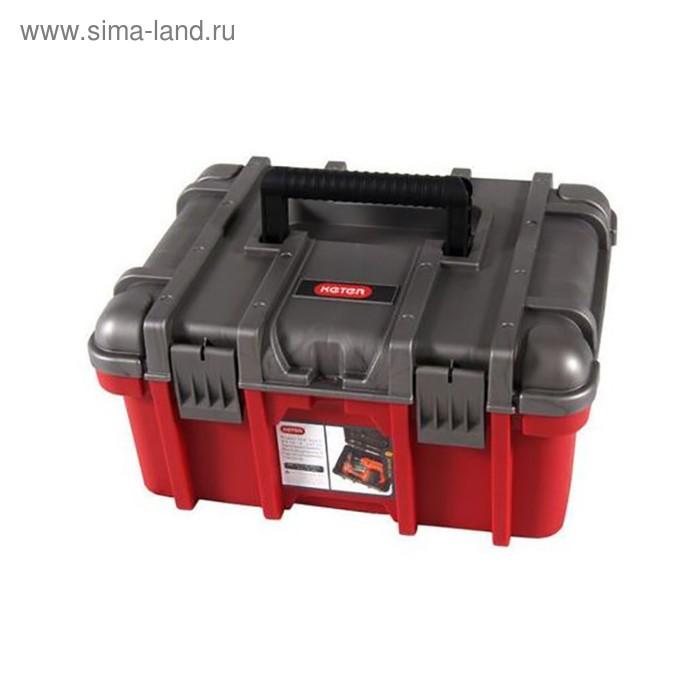 """Ящик для инструментов Wide box, 16"""", красно-серый"""
