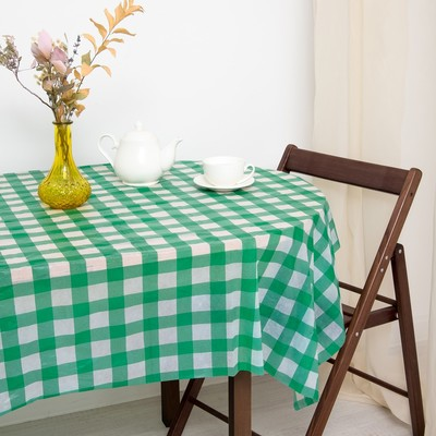 Tablecloth to give the hostess a Cell, the green color 160×160 cm