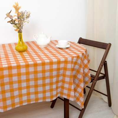 Tablecloth to give the hostess a Cell, the color orange 160×160 cm