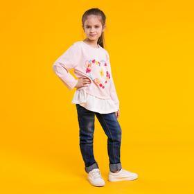 """Джемпер для девочки MINAKU """"Бабочки"""", рост 116-122 см, цвет розовый"""