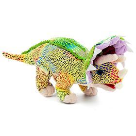 Мягкая игрушка «Трицератопс Жаккард», цвет зелёный, 30 см