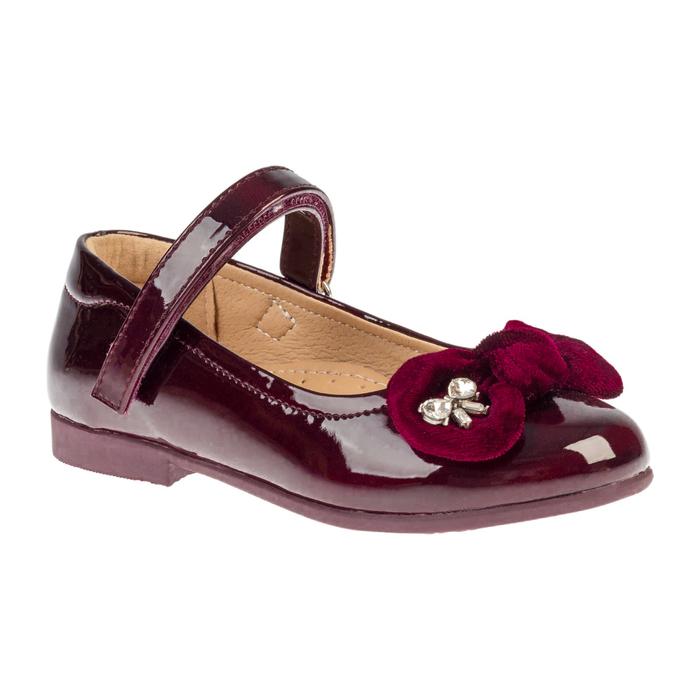 Туфли для девочки Сказка арт. R201333623 (бордовый) (р. 25)