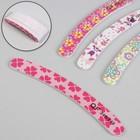 Nail file-emery, abrasive 240/240, 18cm, boomerang, packing 20pcs, pattern MIX