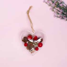 """Christmas pendant with natural decor """"Heart"""""""