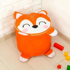 Мягкая игрушка «Пуфик: Лиса» 40см × 40см, цвет оранжевый