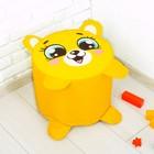 Мягкая игрушка «Пуфик Медведь» 40см х 40см, цвет жёлтый