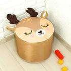 Мягкая игрушка «Пуфик: Олень» 40см ? 40см, цвет коричневый - фото 105456710