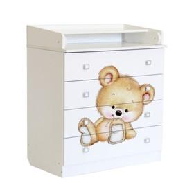 Комод детский пеленальный Фея 1580 «Медвежонок», белый