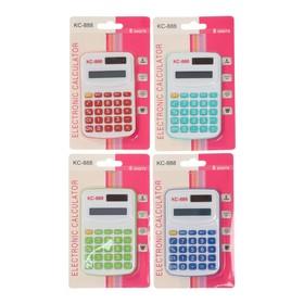 Калькулятор карманный с цветными кнопками, 8-разрядный, работает от батарейки, микс Ош