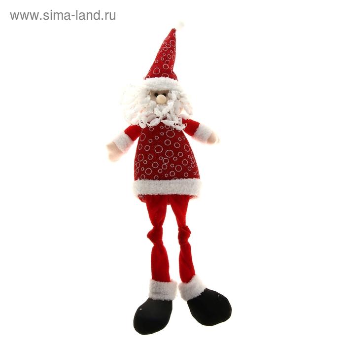 """Мягкая игрушка """"Дед Мороз"""" (красный, длинные ножки)"""
