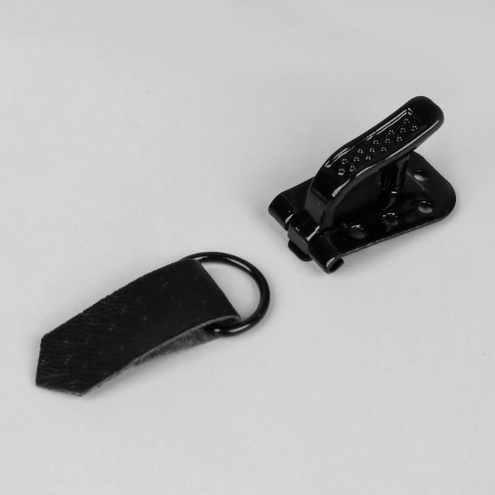 Крючок для верхней одежды, 5 × 1,5 см, 6 шт, цвет чёрный