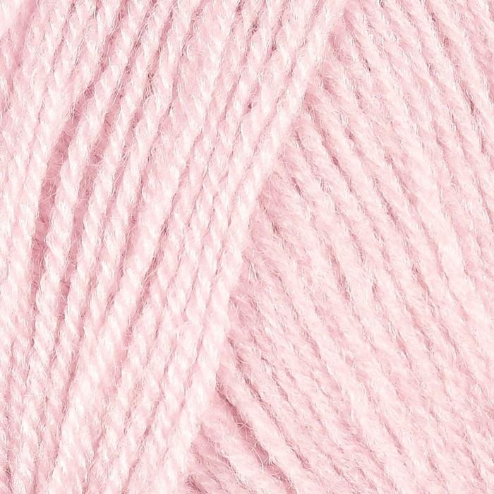 """Пряжа """"Superlana tig"""" 25% шерсть, 75% акрил 570м/100гр (518 розовая пудра) - фото 704998266"""