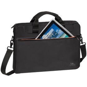"""Сумка для ноутбука 15,6"""" RivaCase 8033 38,5*27*4,5 см, полиэстер, чёрный"""