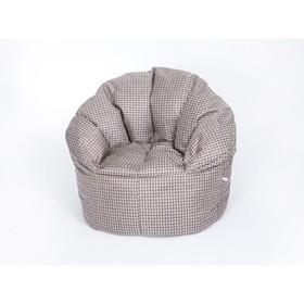 Кресло бескаркасное «Релакс Люкс», коричневый, рогожка