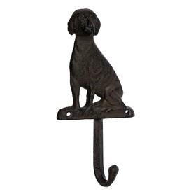 Крючок «Собака», 8,5 × 16,5 × 3,5 см, чугун