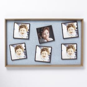MDF photo frame for 6 photos of 10 x 10 cm