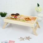 """Столик для завтрака """"Дорогой мамочке, герберы"""", 48×28 см"""