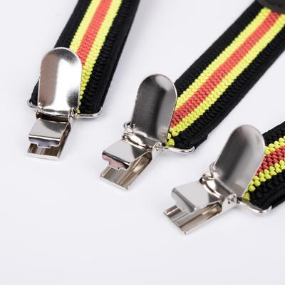 Подтяжки детские «Полоски», цвет чёрный/желтый/красный