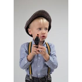 Подтяжки детские, ширина - 2,5 см, цвет чёрный/разноцветный