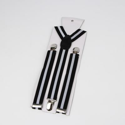 "Braces adult ""Stripes"", black/gray"
