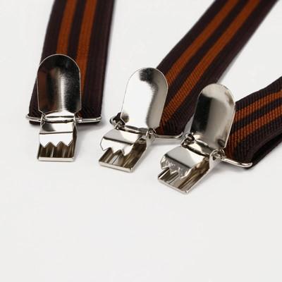 "Braces adult ""Stripes"", color: black/brown"