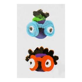 Набор для создания игрушки из меховых палочек и помпошек «Девочка и мальчик»