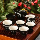 Набор для чайной церемонии «Довольство», 9 предметов: чайник, чахай, 6 чашек, сито - фото 278881144