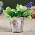 Металлические кашпо для цветов Love 5,5 × 5,5 см