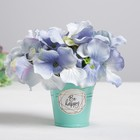 Metal planter for flowers, Be happy every day of 5.5 × 5.5 cm