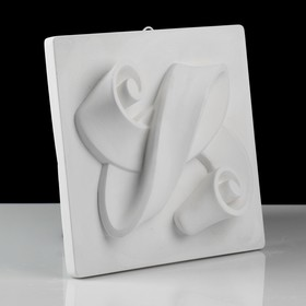 Гипсовая фигура. Орнамент «Лента», 23.5 х 23.5 х 5 см