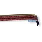 """Карниз трёхрядный 240 см, с декоративной планкой 7 см """"Ультракомпакт. Меандр"""", цвет бордовый"""