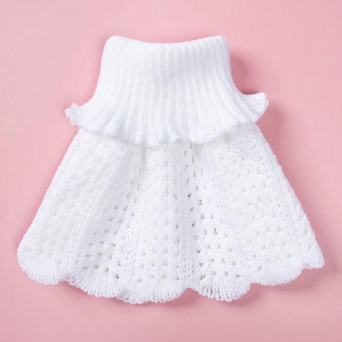 Шарф-манишка для девочки, 2-4 года, цвет белый