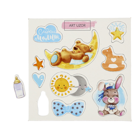 """Chipboard for scrapbooking """"Sweet baby"""" 10x10 cm"""