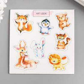 "Chipboard for scrapbooking ""Animals"" 10x10 cm"