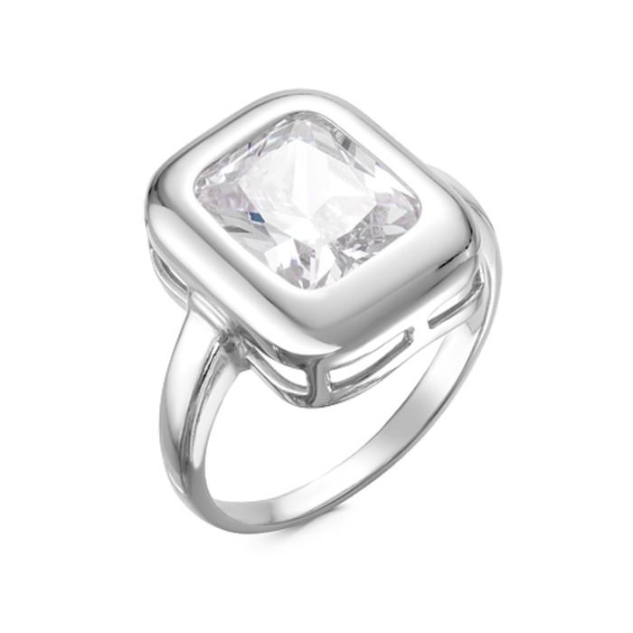 Кольцо ''Слип'', посеребрение, цвет белый, 18 размер 3960837