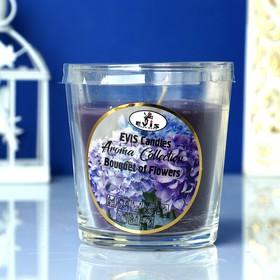 Свеча в стакане 'Букет цветов', ароматизированная, 385гр Ош
