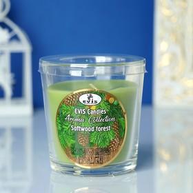 Свеча в стакане 'Лесная свежесть', ароматизированная, 385гр Ош
