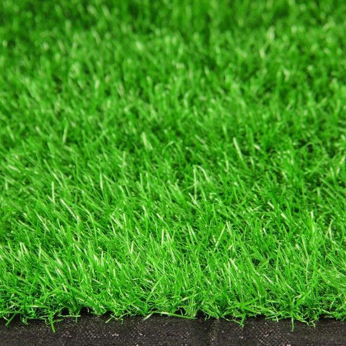 Газон искусственный, 0,03 × 2 × 10 м, тёмно-зелёный, «Тропикана»