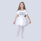 """Карнавальная юбка для девочки """"Звёздочки"""", органза, атлас, длина 35 см, цвет белый"""