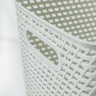 Ящик для хранения с крышкой «Ротанг», 23 л, 45×30×26,5 см, цвет белый - фото 4637008