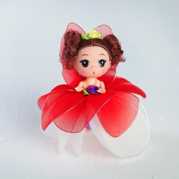 "Кукла-брелок ""Мила"" разноцветная юбочка из лепестков, цвета МИКС"